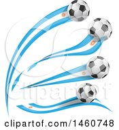 June 24th, 2017: Clipart Of 3d Soccer Balls And Argentine Flags Royalty Free Vector Illustration by Domenico Condello