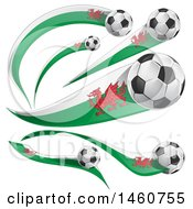 June 24th, 2017: Clipart Of 3d Soccer Balls And Whales Flags Royalty Free Vector Illustration by Domenico Condello