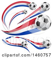 June 24th, 2017: Clipart Of 3d Soccer Balls And Paraguay Flags Royalty Free Vector Illustration by Domenico Condello