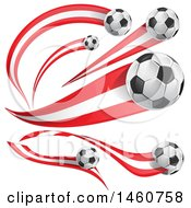 June 24th, 2017: Clipart Of 3d Soccer Balls And Peruvian Flags Royalty Free Vector Illustration by Domenico Condello