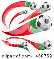 June 24th, 2017: Clipart Of 3d Soccer Balls And Portuguese Flags Royalty Free Vector Illustration by Domenico Condello
