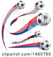 June 24th, 2017: Clipart Of 3d Soccer Balls And Russian Flags Royalty Free Vector Illustration by Domenico Condello