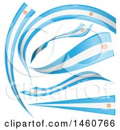 June 24th, 2017: Clipart Of Argentine Flag Background Banners Royalty Free Vector Illustration by Domenico Condello