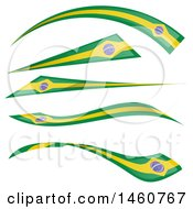 Clipart Of Brazil Flag Banners Royalty Free Vector Illustration by Domenico Condello
