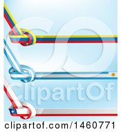 June 24th, 2017: Clipart Of Chilean Uruguayan And Colombian Flag Knots Royalty Free Vector Illustration by Domenico Condello