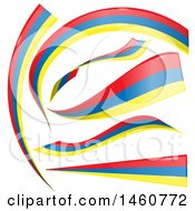 June 24th, 2017: Clipart Of Colombian Flag Banners Royalty Free Vector Illustration by Domenico Condello