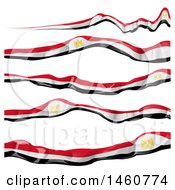 Clipart Of Egyptian Flag Banners Royalty Free Vector Illustration