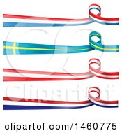 Clipart Of European Flag Banners Royalty Free Vector Illustration by Domenico Condello