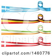 June 24th, 2017: Clipart Of Flag Banners Royalty Free Vector Illustration by Domenico Condello