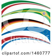 Clipart Of Flag Banners Royalty Free Vector Illustration by Domenico Condello