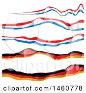 Clipart Of French And German Flag Banners Royalty Free Vector Illustration by Domenico Condello