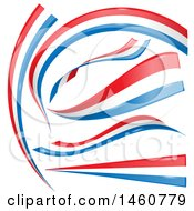 Clipart Of French Flag Design Elements Royalty Free Vector Illustration by Domenico Condello