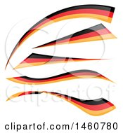 June 24th, 2017: Clipart Of German Flag Design Elements Royalty Free Vector Illustration by Domenico Condello