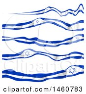 June 24th, 2017: Clipart Of Israel Flag Banners Royalty Free Vector Illustration by Domenico Condello