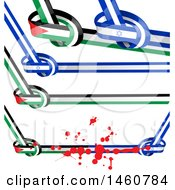 June 24th, 2017: Clipart Of Israel And Palestine Flags Royalty Free Vector Illustration by Domenico Condello