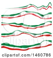 Clipart Of Italian Flag Banners Royalty Free Vector Illustration