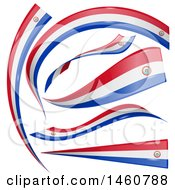 June 24th, 2017: Clipart Of Paraguay Flag Banners Royalty Free Vector Illustration by Domenico Condello