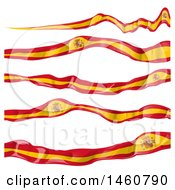 Clipart Of Spanish Flag Ribbons Royalty Free Vector Illustration