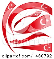 Clipart Of Turkish Flag Design Elements Royalty Free Vector Illustration