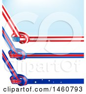 June 24th, 2017: Clipart Of American Australian And English Flag Knots Royalty Free Vector Illustration by Domenico Condello