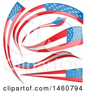 June 24th, 2017: Clipart Of American Flag Banners Royalty Free Vector Illustration by Domenico Condello