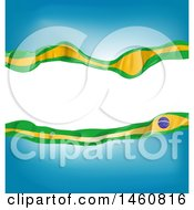 Clipart Of A Brazil Flag Background Royalty Free Vector Illustration by Domenico Condello