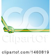 Clipart Of A Brazil Flag Background Royalty Free Vector Illustration