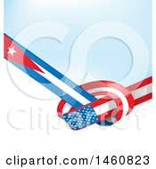 Cuban And United States Flag Background