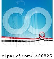 Clipart Of An Egyptian Flag Background Royalty Free Vector Illustration