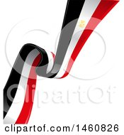 Clipart Of A Diagonal Egyptian Flag Background Royalty Free Vector Illustration by Domenico Condello