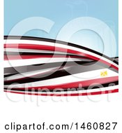 Clipart Of An Egyptian Flag Background Royalty Free Vector Illustration by Domenico Condello