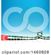 Clipart Of A Emirati Flag Background Royalty Free Vector Illustration