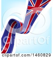 Clipart Of An English Flag Background Royalty Free Vector Illustration by Domenico Condello
