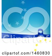 June 24th, 2017: Clipart Of A European Flag Background Royalty Free Vector Illustration by Domenico Condello
