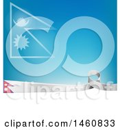 Clipart Of A Nepali Flag Background Royalty Free Vector Illustration by Domenico Condello