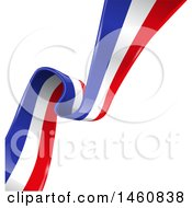Clipart Of A French Flag Background Royalty Free Vector Illustration by Domenico Condello