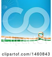 Clipart Of An Indian Flag Background Royalty Free Vector Illustration