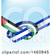 Poster, Art Print Of Israel And Palestine Flag Background