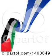 Poster, Art Print Of Israeli And Palestine Flag Background