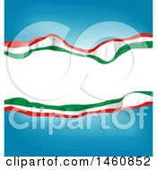 Clipart Of An Italian Flag Background Royalty Free Vector Illustration