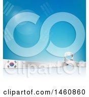 South Korean Flag Background