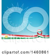 Clipart Of A Kurdistan Flag Background Royalty Free Vector Illustration
