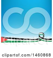 Clipart Of A Palestinian Flag Background Royalty Free Vector Illustration by Domenico Condello