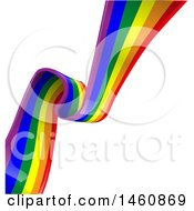 Clipart Of A Rainbow Flag Background Royalty Free Vector Illustration