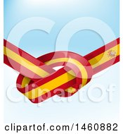 Clipart Of A Spanish Flag Knot Background Royalty Free Vector Illustration