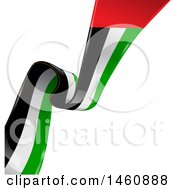 Clipart Of A United Arab Emirates Flag Background Royalty Free Vector Illustration