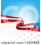 Clipart Of An American Flag Background Royalty Free Vector Illustration