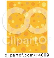 Retro Orange Background With Colorful Bubbles And Circles Clipart Illustration