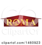 Clipart Of A Roma Design Royalty Free Vector Illustration by Domenico Condello