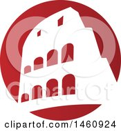 Clipart Of A Roman Coliseum Royalty Free Vector Illustration by Domenico Condello